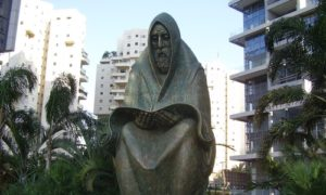 "A monument in Ramat Gan, Israel, that serves as a memorial for the Iraqi Jews who were killed during the Farhud (""violent dispossession"") in June 1941. Photo courtesy of PikiWiki Israel."