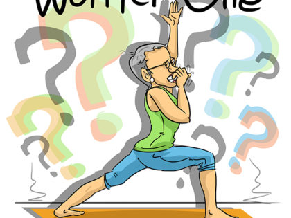 "Rhonda Rosenheck creates cartoon book depicting ""Jewish"" yoga postures"