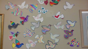 Seniors, SJCC tweens create peace murals: Community can help create more doves