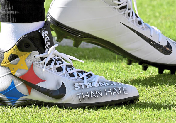 ... cleats to honor Pittsburgh synagogue victims. NEW YORK CITY (JTA)  –Steelers ... 1dd8bda66