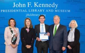 High school student with local ties wins John F. Kennedy Profile in Courage Essay Contest