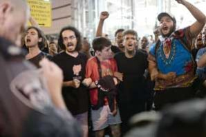 Leftists accused of 'hijacking' protests