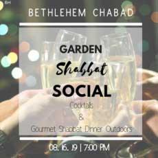 Garden Shabbat Social slated for Bethlehem Chabad  on Aug. 16, Tu'B'Av