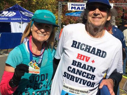 Brodskys race in recent area marathon; goal to raise AIDs awareness!