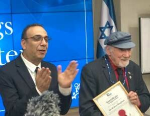 Oldest working radio-talk show host in the world feted in Jerusalem
