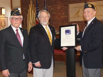 J.W.V. Post 105 notes efforts of Bill Schaaf with Four Chaplains' Brotherhood Award