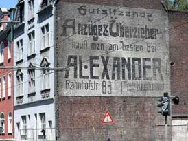 When a German city tore down a building a 110 year-old mural for a Jewish business was exposed