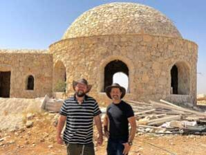 """""""Peace To Prosperity"""" threatens oasis project of two pioneers; Building in the Judean Desert continues"""